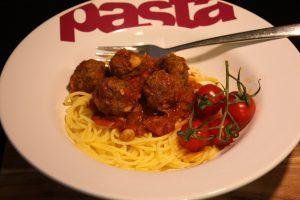 Spaghetti met lamsgehaktballetjes