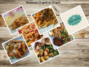 Weekmenu 23 april t/m 28 april