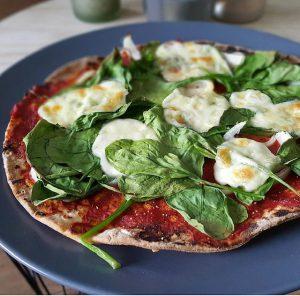 Wrap met spinazie en mozzarella