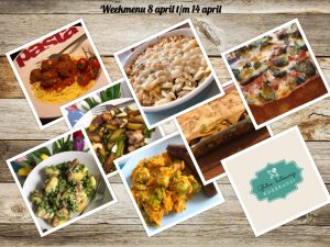 Weekmenu 8 t/m 14 april