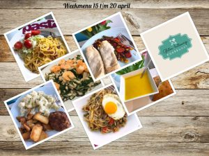 Weekmenu 15 t/m 20 april