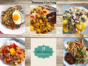 Weekmenu 5 aug t/m 9 aug