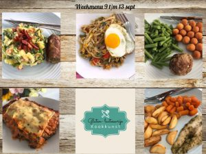 Weekmenu 9 t/m 13 september