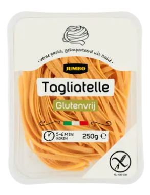 glutenvrije en lactosevrije pasta